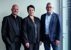 H.-P. Weihmann mit den HÖREX Vorständen Claudia Hellbach und Mario Werndl
